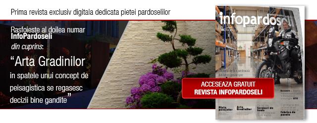 Al doilea numar din singura revista exclusiv digitala din piata pardoselilor - InfoPardoseli